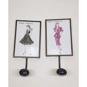 Vintage Fashion Ladies Wall Hooks